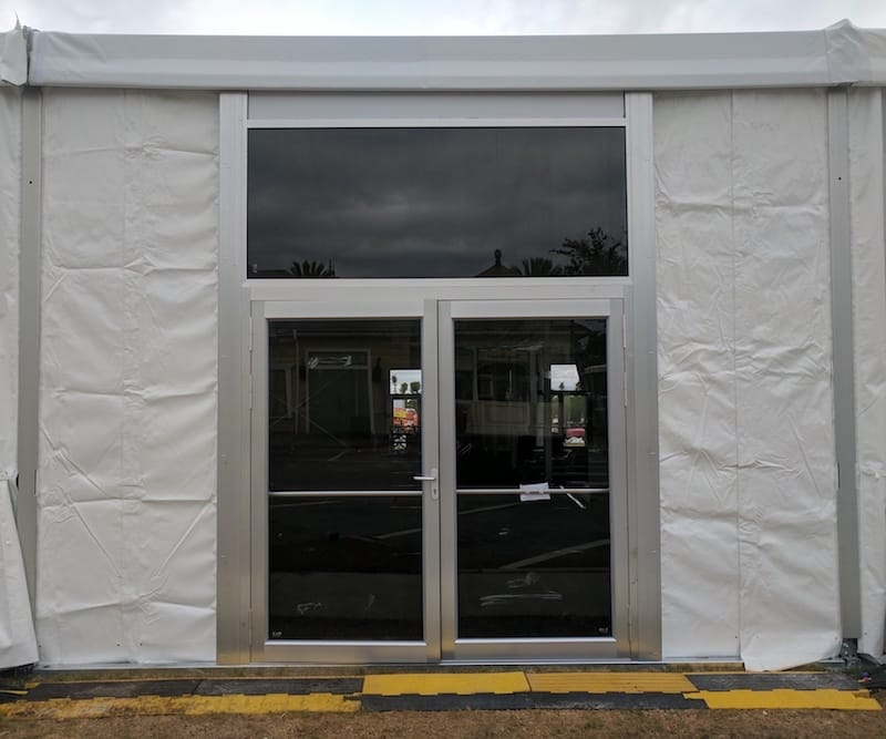 Double doors with pvc wall surrounds