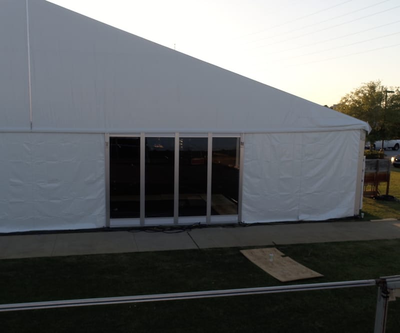 Tent with Glass Wall